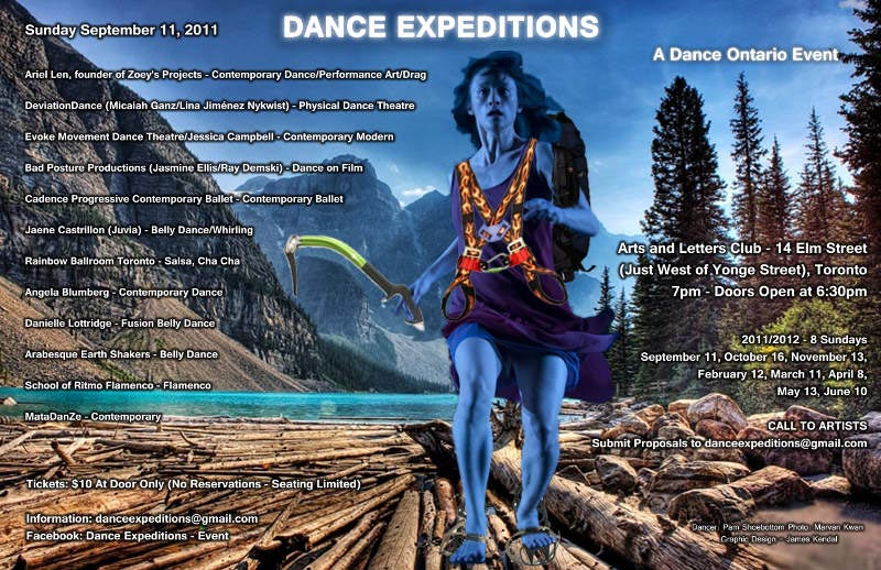 Large Poster for Dance Expeditions 2011